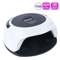 75W Nail Dryer UV Led Lamp Set Memory Timer Curing Machine For All Types Gel LCD Display Nail Gel Polish Manicure TRSUN X2plus