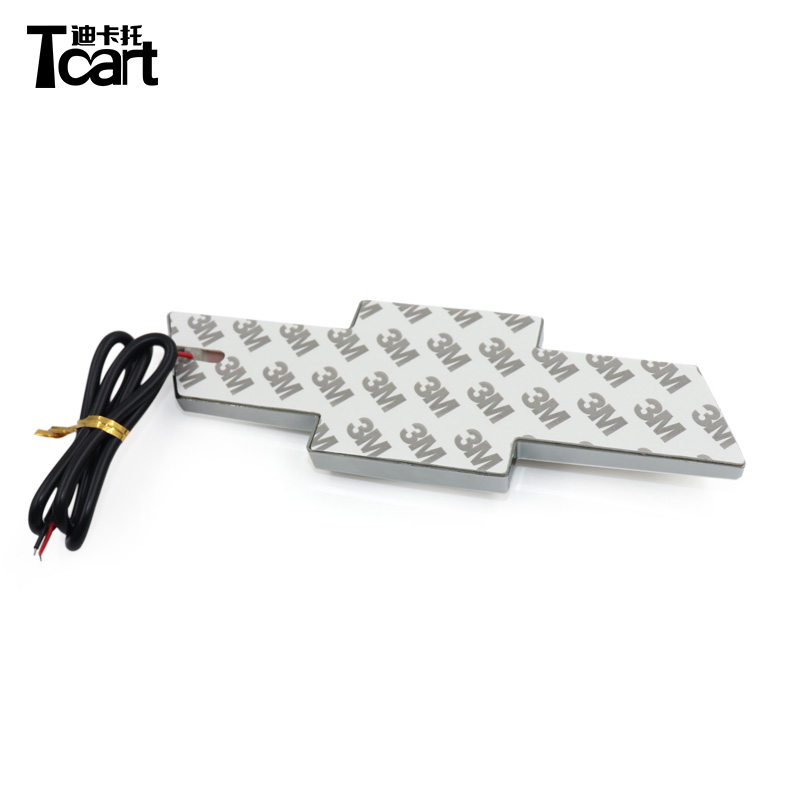 Tcart 17x5.6cm Three Colors 4D Logo Lights Emblem Lights Lamp For Chevrolet Captiva Aveo Trax