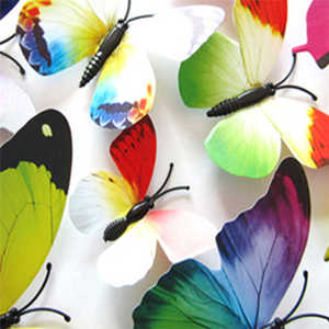 Image 3 - New listing 3D DIY Wall Stickers Fridge Magnet Home Decor Cartoon Butterfly Stickers Room Decor Creative sticker mural