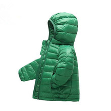 Hooded Winter Spring  Children Jackets For Girls Boys Warm Down Coat For Girl Clothing Fashion Outwear Thin Light Down Jackets