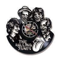 Vinyl Record Wall Clock Modern Design Rolling Stone Band Classic CD Clocks Retro Style Wall Watch 3D Decorative Home Decor 12