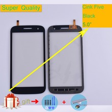 For Wiko Cink Five Touch Screen Panel Sensor Digitizer Front Outer Glass Touchscreen Cink Five Touch Panel Replacement Black все цены
