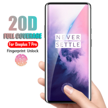 20D Curved Edge Full CoverProtective Glass For Oneplus 7 Pro HD Screen Protector For Oneplus 7 Pro 1+7 Pro Glass Protective Film