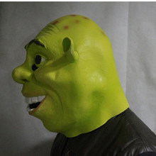 Halloween Props Adult Face Shrek Masks Latex Masquerade Birthday Party Rubber Green Cosplay Movie  Mask
