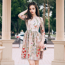 Cudowna Sukienka Hafty Kwiaty S-L