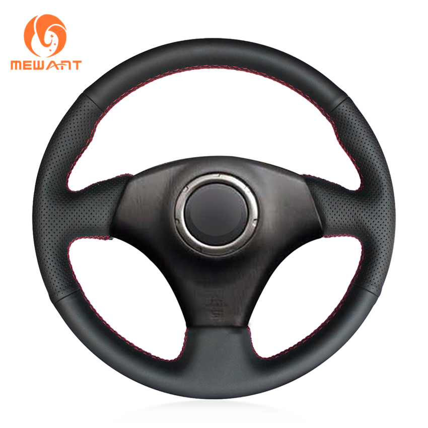MEWANT Black Artificial Leather Car Steering Wheel Cover for Toyota RAV4 1998-2003 Celica 1998-2005 Corolla (US) 2003-2008 mewant black artificial leather car steering wheel cover for peugeot 206 1998 2005 206 sw 2003 2005 206 cc 2004 2005