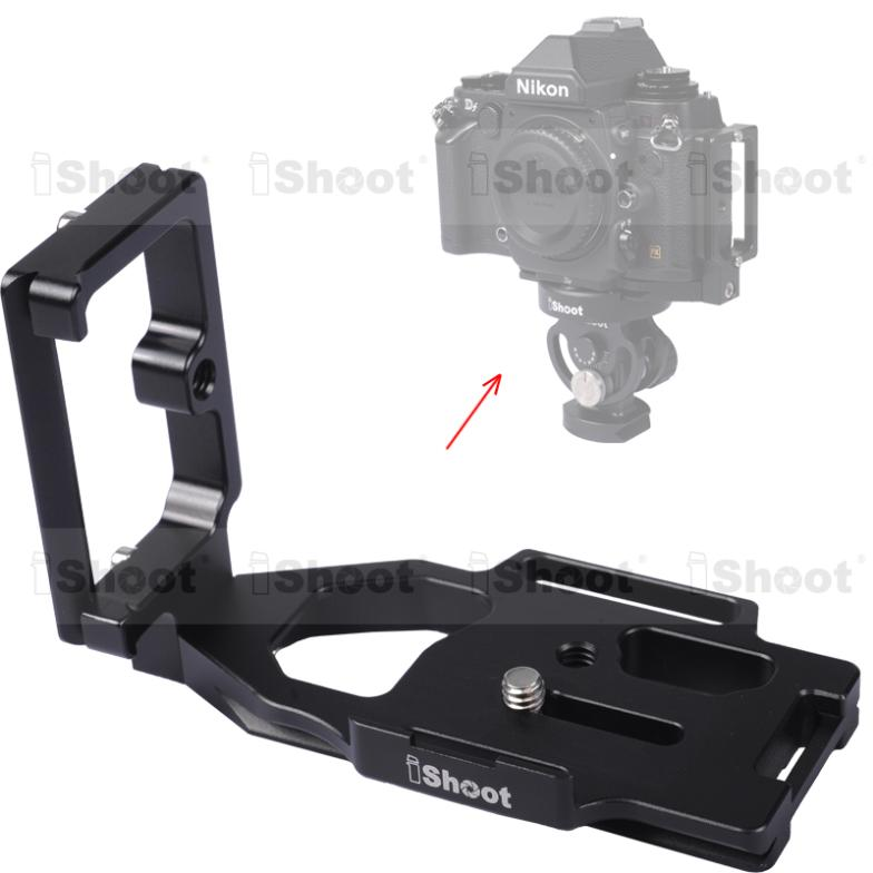 Removable Metal L-shaped Vertical Shoot Quick Release Plate/Camera Holder Bracket Grip for Nikon Df Tripod Ball Head