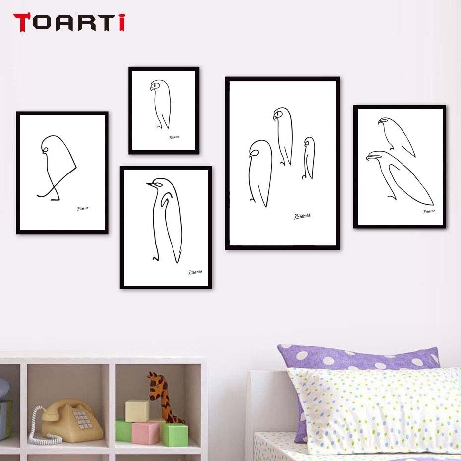 picasso linie zeichnung tiere skizzen minimalistischen. Black Bedroom Furniture Sets. Home Design Ideas