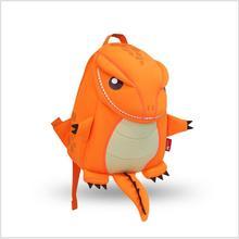 NOHOO Orange Green Dragon Kids Baby Cartoon Waterproof School Bags 3D Animals Backpack For Girls Boys
