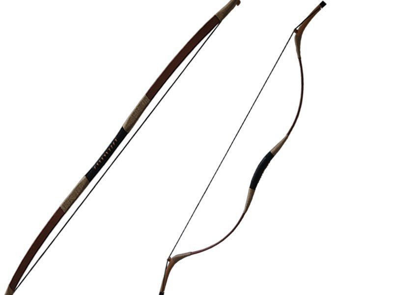 ФОТО a newly pure handmade traditional recurve bow 65lbs resin pigskin leather mongolian horsebow for aluminum arrow