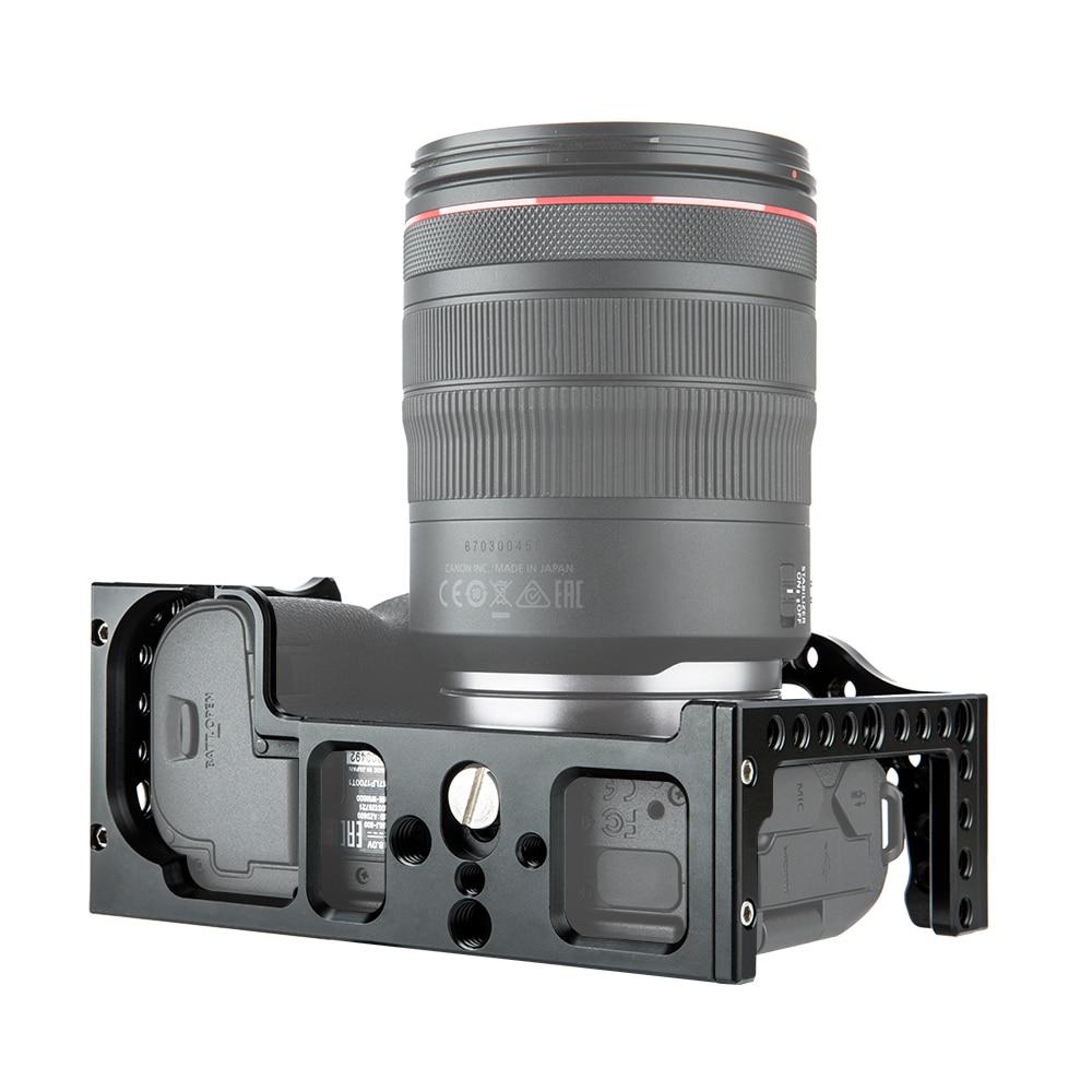 Film vidéo en aluminium de Cage de caméra faisant le stabilisateur de plate-forme pour le Canon EOS R avec le support froid de chaussure pour le moniteur magique de Microphone de bras - 6