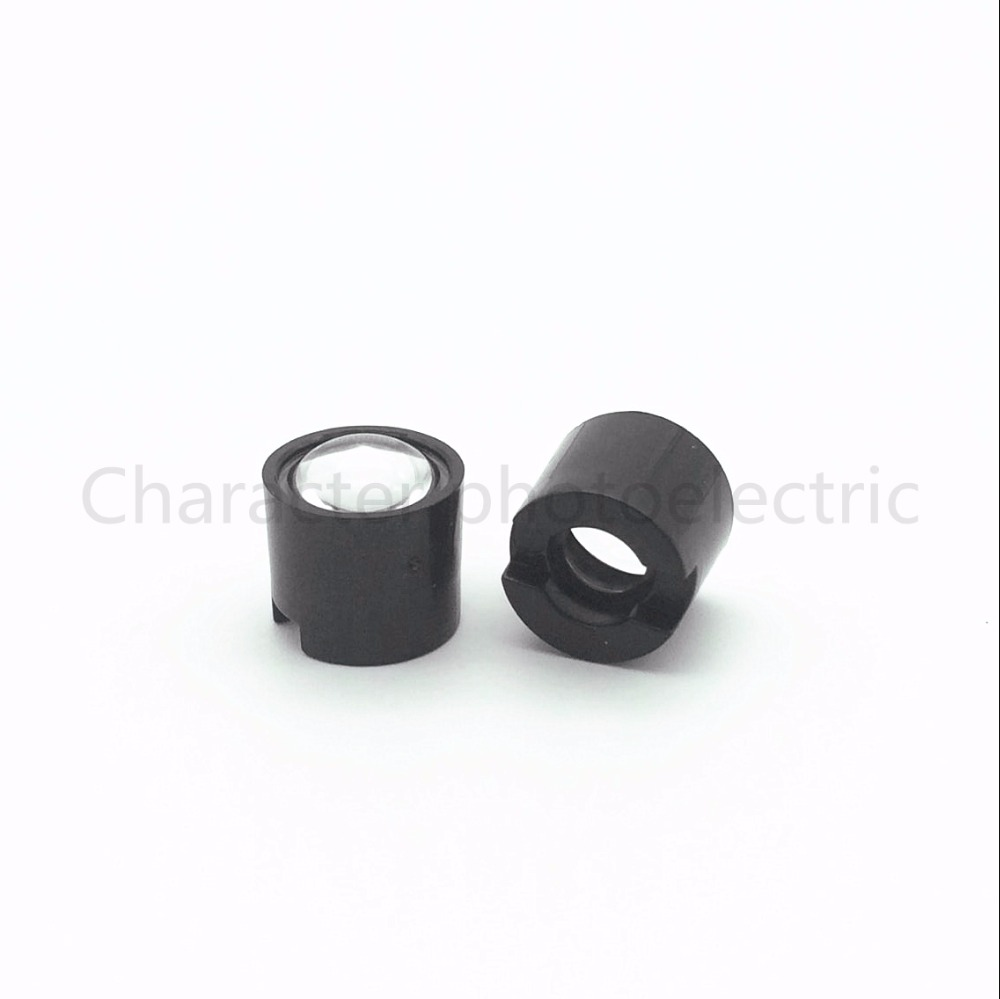 20pcs Black White 10 Degree 45 Degree 60 Degree 90 Degree LENS Collimator 14 5mm For 1W 3W 5W High Power Star LED Light in Light Beads from Lights Lighting