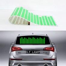 Pegatinas para EL coche, Panel de Flash de luz LED verde, ecualizador activado con música, W45, W90, W70, W80, W90, W114