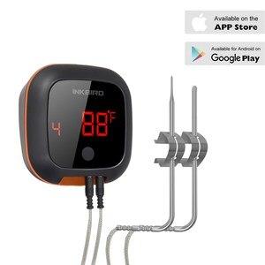 Image 2 - Inkbird Four numérique sans fil Bluetooth, thermomètre de cuisson pour BBQ, gril, thermomètre avec deux/quatre sondes et batterie rechargeable USB IBT 4XS