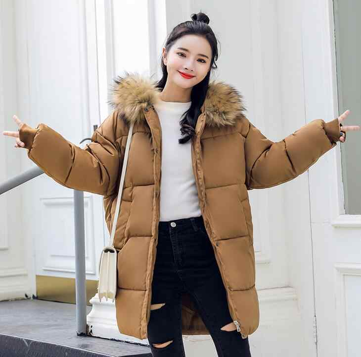 a0cf5046532cd 2018 Winter Women loose Coat Thick Maternity Hooded Jackets Warm Coats  Cotton Down Padded Pregnant Overcoat