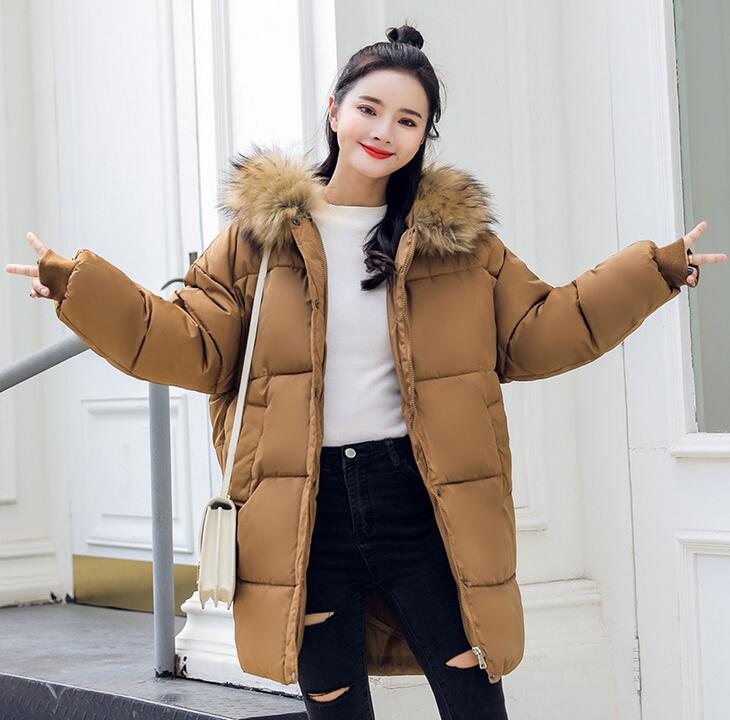 2018 Winter Women loose Coat Thick Maternity Hooded Jackets Warm Coats Cotton Down Padded Pregnant Overcoat pregnancy clothes 2017 new korea winter plus size women coat overcoat wadded coats solid hood jackets thick warm top quality loose coat a0162