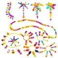 30g (35 pcs) variedade frisado Crianças Diy Blocos de Construção Acessórios de Jóias Arty esferas mágicas para As Crianças de Inteligência Presentes da educação