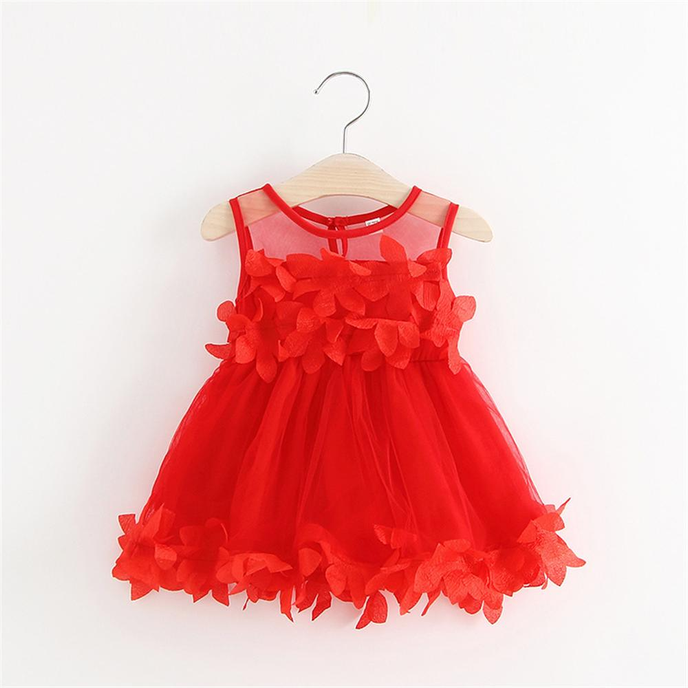 2018 Summer NewBorn Baby Girls Petal Dress Baby Girl Princess Chiffon Dresses Infant Kids Party Birthday Outfits 1-2years