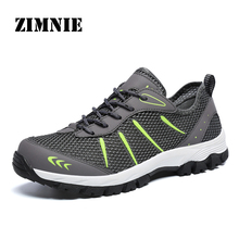 ZIMNIE Men Summer Breathable Casual Air Mesh Shoes Men Comfortable Trainers Footwear Male Out Walking Shoes Big Large Size 39~48