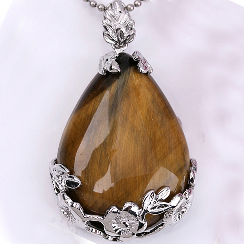 2pcs Tiger's eye crystal crystal Water droplets form Bead Pendant Jewelry For Necklace