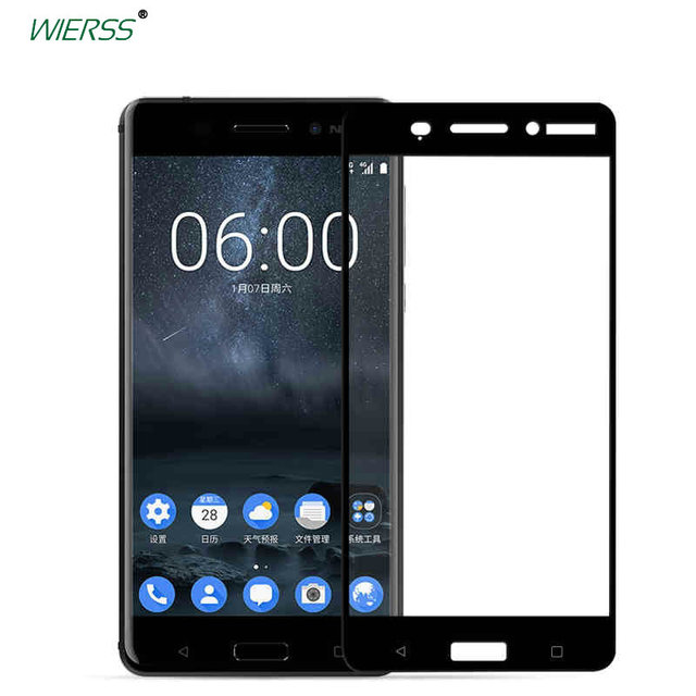 sports shoes f3603 84e08 US $1.94 35% OFF|For Nokia 6 (2017 Android 7 7.0) Nokia6 full Cover  Tempered Glass Screen Protector for Nokia 8 TA 1012 for Nokia 7 Glass  film-in ...