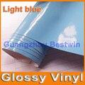 Free shipping glossy vinyl wrap 30m air free bubble sticker pvc fabric a lot colour choose
