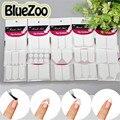 BlueZoo 15 Folhas/embalar Linhas de Sorriso Francês Guia Prego Adesivos Manicure Dicas Decalques Da Arte Do Prego Formar Franja Guia Para Nail Art