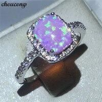 Choucong משרד ליידי הלבן גולדפילד טבעת הוורודה Cz אופל תכשיטי יום נישואים אירוסין טבעות נישואים לנשים bijoux