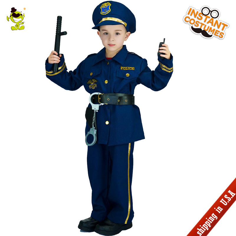 QLQ 2018 Children Policeman Costume Masquerade Boys Police Clothes Role Play Kids Police Halloween Party -in Boys Costumes from Novelty u0026 Special Use on ...  sc 1 st  AliExpress.com & QLQ 2018 Children Policeman Costume Masquerade Boys Police Clothes ...