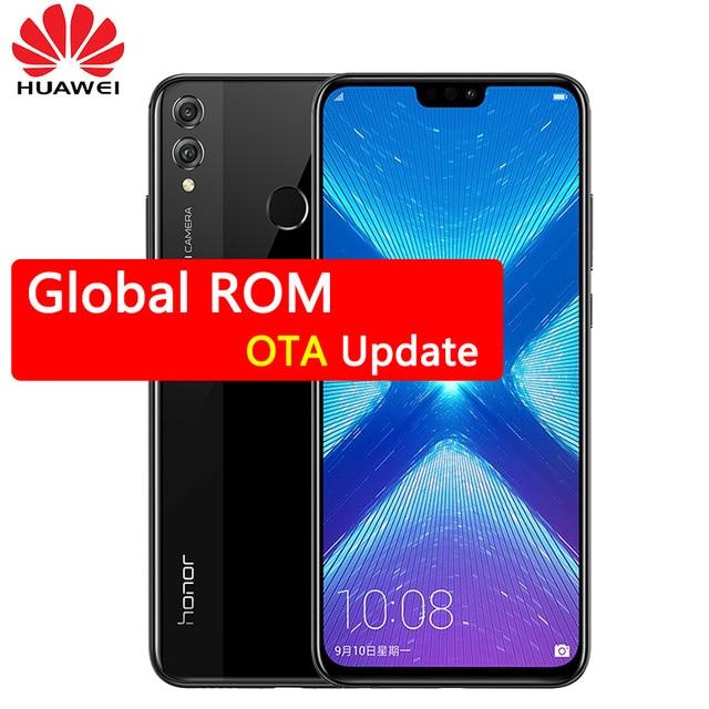 Huawei Honor 8X мобильного телефона 6,5 дюймов экран 3750 мАч батарея Android 8,2 двойной назад 20MP камера несколько язык смартфон