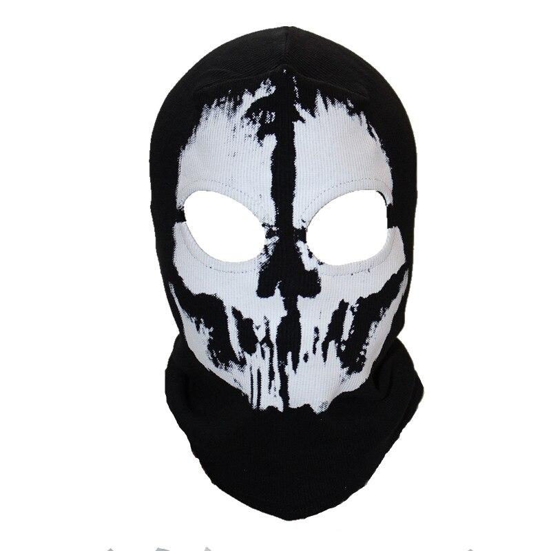 Шапка-балаклава мужская с маской-черепом