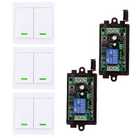 Universal 315 433 MHz Wireless Remote Control Switch DC 9V 12V 24V 1CH RF Relay Receiver Module + 86 Wall Transmitter