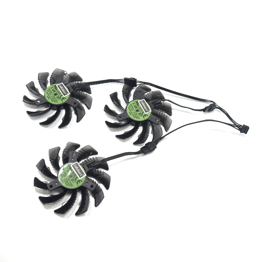 New 75mm T128010SU Cooler Fan Gigabyte AORUS GeForce GTX 1060 1070 1080Ti  G1 GTX 960 970 980 Ti GTX660 TI RX480 Card Cooler Fans