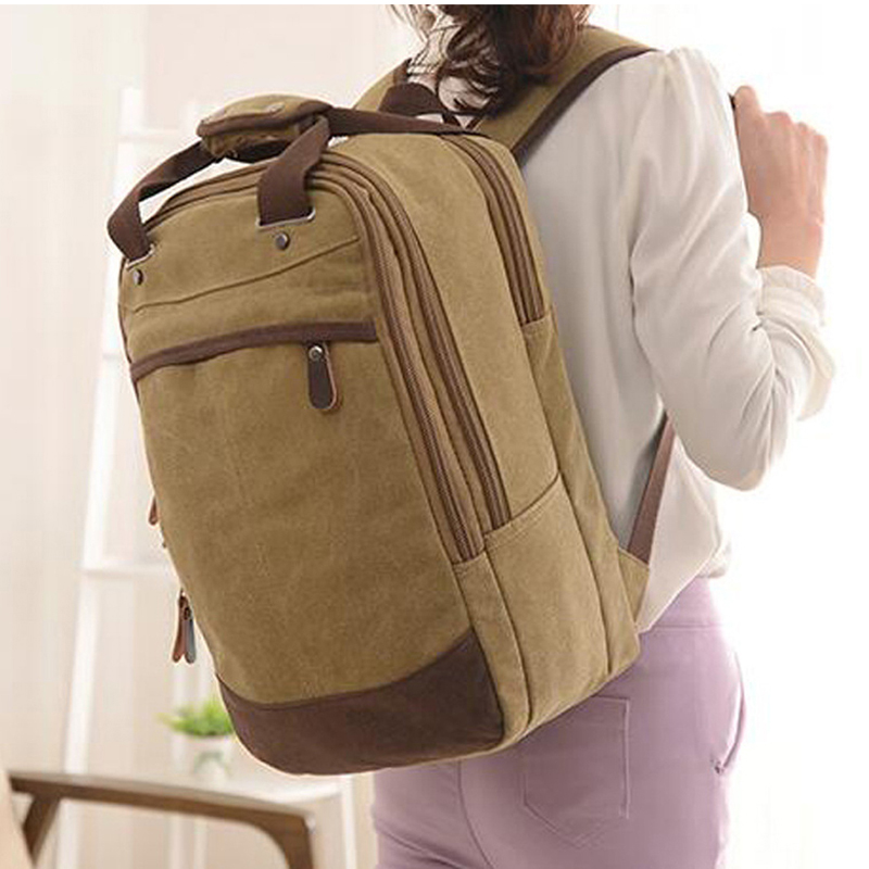 Casual Men Women Canvas Bags School Backpack For Teenagers Boys Girls Backpacks For Teenager Travel Bag  Rucksack Bookbags