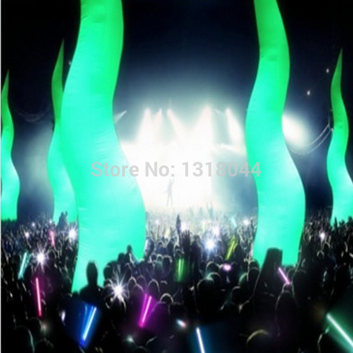 2016 party wedding decorating roman flame inflatable pillar led inflatable column