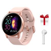 Smartwatch IP68 עמיד למים גשש כושר נשים קצב לב צג לחץ דם חמצן חכם שעון שעון עבור אנדרואיד IOS + מתנה