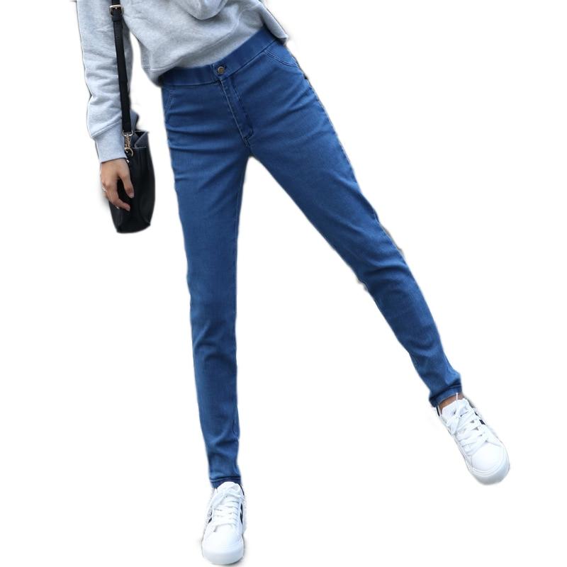 New Fashion Women Casual Female Mid Waist Womens Jeans Pant Casual Regular Slim Females Stretch Zipper Fly Denim Lady Trousers denim zipper hollow worn stiletto womens sandals