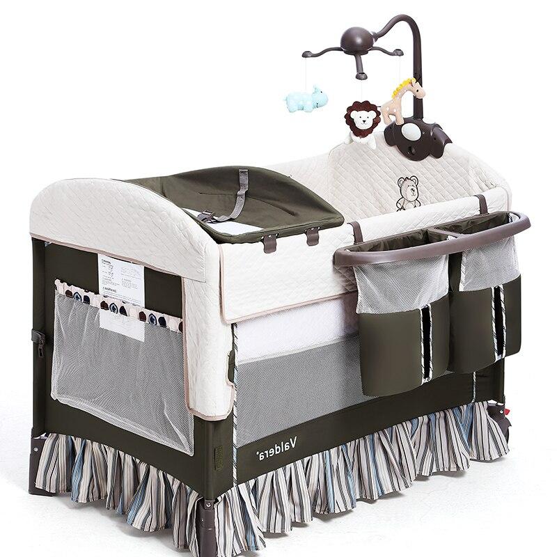 Baby Brand Beds Valdera Folding Multi-functional Baby Bed Eu Newborn Travel Crib