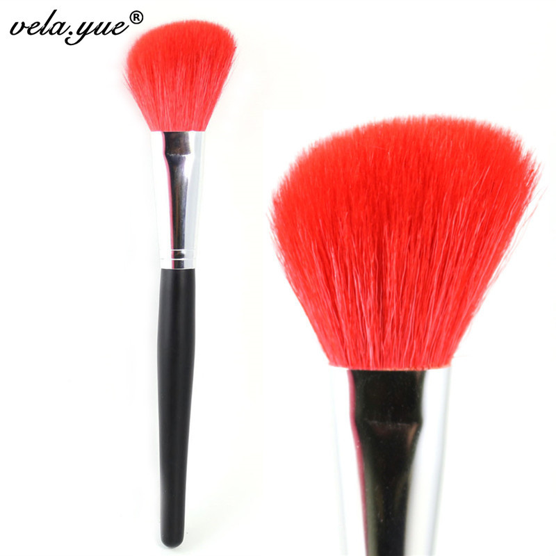 Professional Angled Contour Brush Soft Nature Goat Hair Blush Brush Face Makeup Tool Clear Stock professional premium goat hair angled blush brush