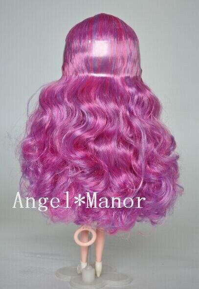 Головы с волосами для блит, Не кукла, Роза - фиолетовые волосы, С нормальным или темной кожей, Для подарка девушке TP0026