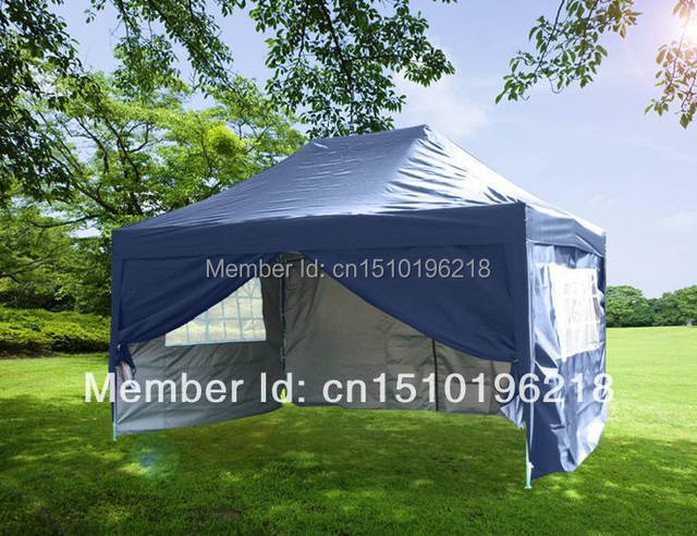 Waterproof 10x15  EZ Pop Up Party Tent Canopy Gazebo Navy Blue + Free Carry Bug & Waterproof 10x15