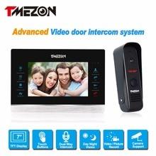 1200TVL Cámara Tmezon 7 pulgadas Tft Color Video de La Puerta Teléfono Intercom Sistema de Altavoces A Prueba de agua Visión Nocturna Por INFRARROJOS de Seguridad 1v1