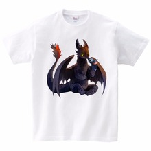 2019 Hot sales Big yards T-Shirt children Cute Tops How to Train Your Dragon Cartoon Summer Clothes novel TShirt MJ