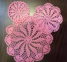 HOT Lace cotton placemat cup coaster mug kitchen dish dining table place mat cloth Crochet tea coffee doily Christmas dinner pad