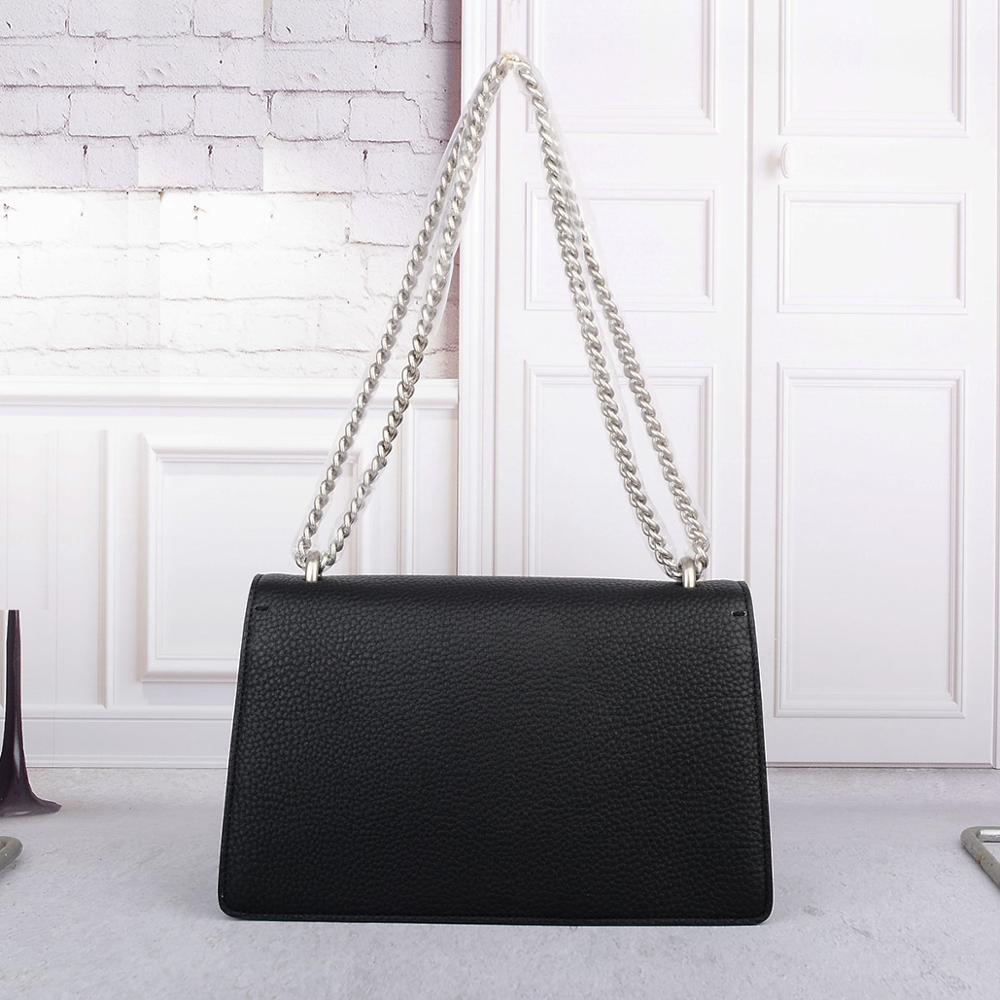 women classic realer leather handbags luxury designer bags Genuine leather crossbody bags high quality chain shoulder bags