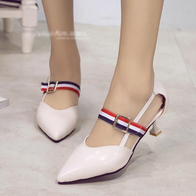 del bomba Mujeres Estilo sandalia verano del zapatos stilettos Exvqw1Hgv