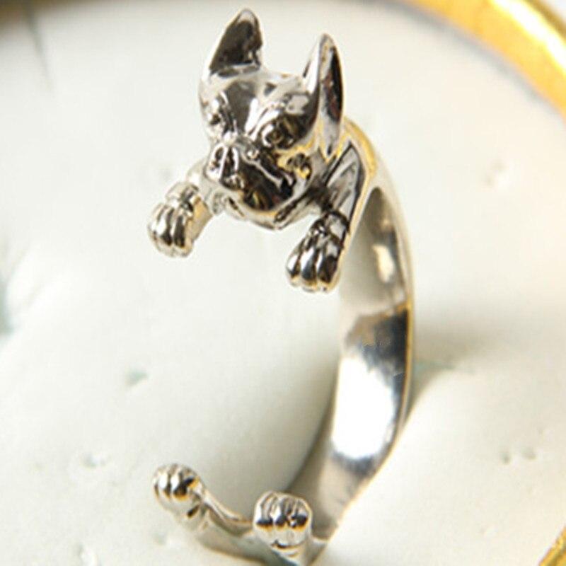 10 шт./лот Америка ретро-панк питбультерьер кольцо ручной работы животного хиппи питбуль кольцо украшения для любителей животных