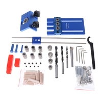 DIY Woodworking Joinery High Precision Dowel Jigs Kit Drilling Guide 3 In 1 Kit