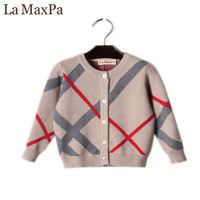 La MaxPa Hot Sale Boy Sweater 2018 Spring Autumn Design Wool Knitted Cardigan For Child Children