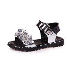 2018 nouveau sandales Princesse chaussures cristal sandales filles plat mousseux strass grand sandales filles étudiant chaussures